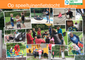 Collage speeltuinenfietstocht